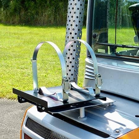 Nigrowsky : Support bouteille simple SB201 basculant pour bouteille de gaz 13kg.Convient aux véhicules à carburation GPL, chariot élévateur. Fabrication Made in France