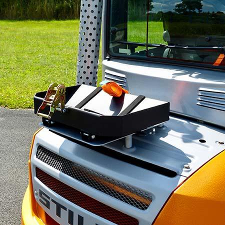 Nigrowsky : Support bouteille simple SB301 basculant pour bouteille de gaz 13kg.Convient aux véhicules à carburation GPL, chariot élévateur. Fabrication Made in France